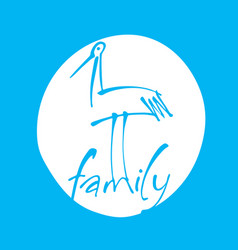 family bird template vector image
