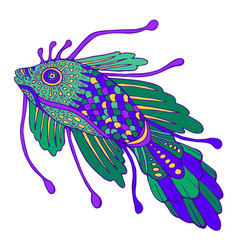 fantasy decorative fish pastel color vector image