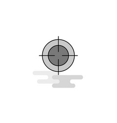 focus web icon flat line filled gray icon vector image