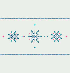 full hd ethnic style winter grunge snowflakes vector image