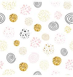 Girls boss seamless pattern polka dot abstract vector
