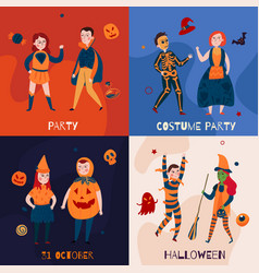 halloween kids design concept vector image