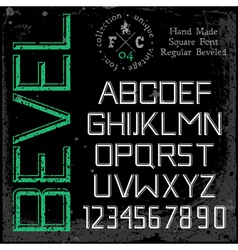 Handmade retro font beveled vector
