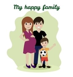 Happy family friendship adoptive parents vector image