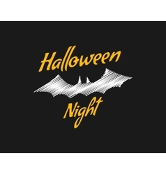 Happy halloween party night card halloween bat vector