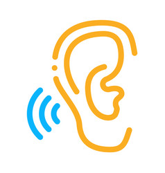 hears sound icon outline vector image