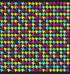 Houndstooth pattern seamless background vector