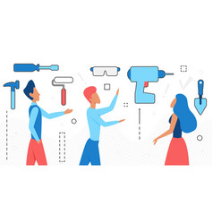 house repair service people home maintenance vector image