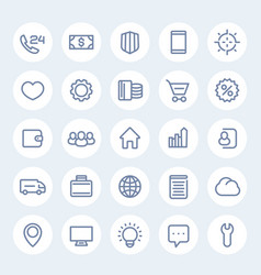 Icons for web design in linear style vector
