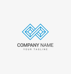 infinity logo template vector image