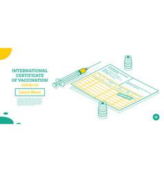 International certificate vaccination vector