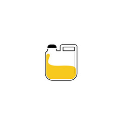 Jerry cans flat icon on white background vector