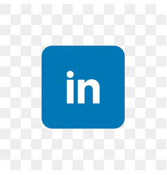 Linkedin social media icon design template vector