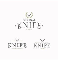 Logo with a set knives on white background vector