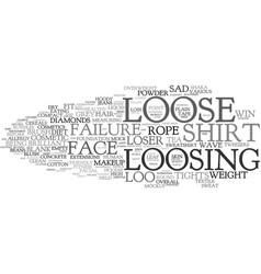 Loosing word cloud concept vector