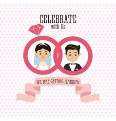 Married design Wedding icon Colorful vector image