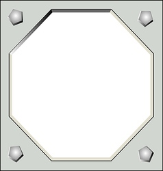 matal frame vector image