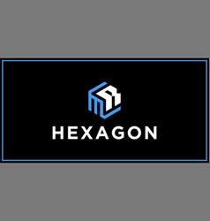 Mr hexagon logo design inspiration vector