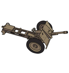 Old sand field cannon vector
