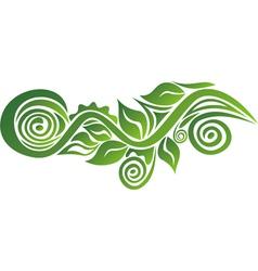 ornamental floral motif vector image