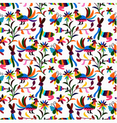 otomi style pattern vector image