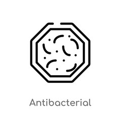Outline antibacterial icon isolated black simple vector