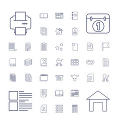 Page icons vector