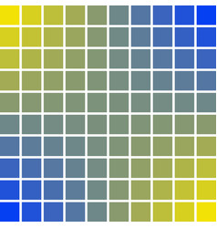 Panels pixel art squares 10 x 10 blue and yellow vector