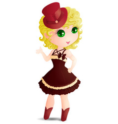 Pretty girl vector