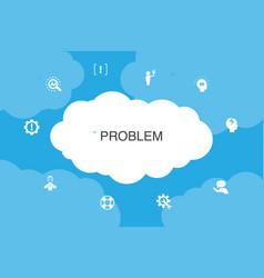 Problem infographic cloud design template vector