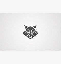 racoon icon sign symbol vector image