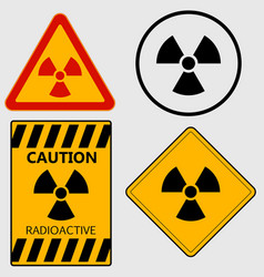 Radioactivity sign set vector image