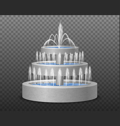 realistic tier fountain transparent vector image