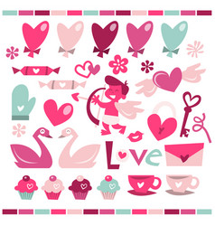 retro love is in the air vector image
