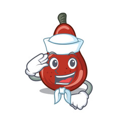 Sailor red pears in character shape vector