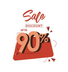 Sale discount up to 90 template design vector