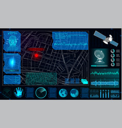 search and track a person from space vector image