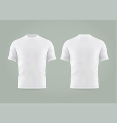 set isolated white t-shirt or realistic apparel vector image