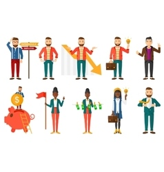 set of with business people vector image