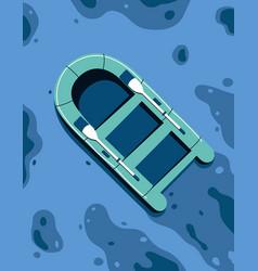 ship floating in ocean vector image