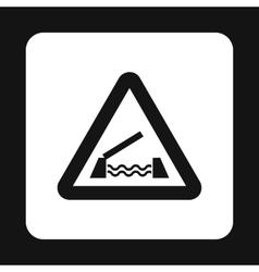 Sign sliding bridge icon simple style vector