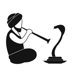 Snake-charmer simple icon vector