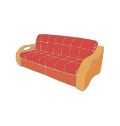 sofa red interior furniture room couch isolated vector image