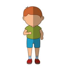 Stand up boy cartoon vector