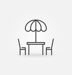 Street cafe icon in thin line style vector
