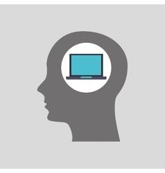 Tech computer icon vector