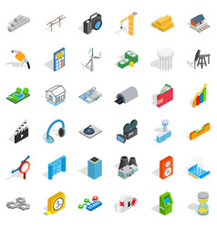 technical icons set isometric style vector image