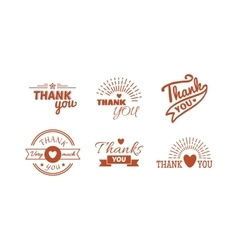 Thank you text set vector image