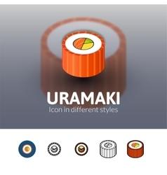 Uramaki icon in different style vector