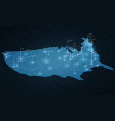 Usa map big data visualization vector
